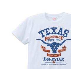 テキサスロングホーン牛  S〜XL Tシャツ【受注生産品】