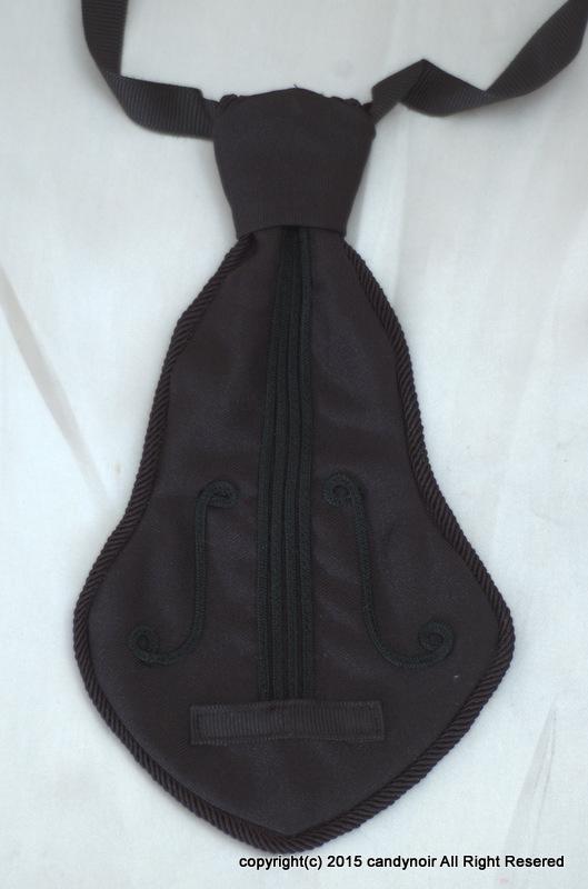 ヴァイオリンタイ 黒x黒