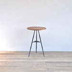 Tripod table -Oak woodtop Middle