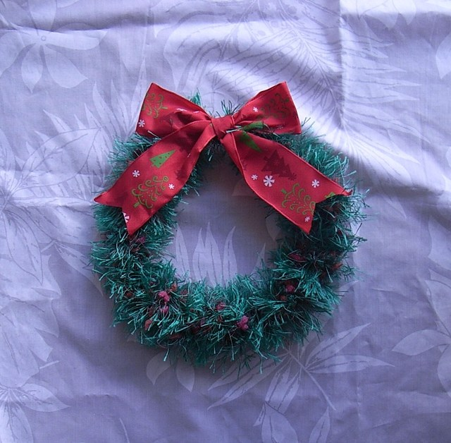 クリスマスリース・リボン