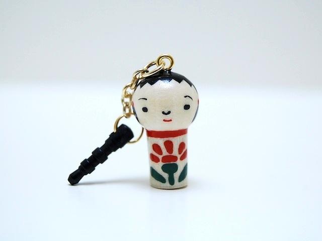 miniコケシ*なるこちゃん*イヤホンジャック*[1]