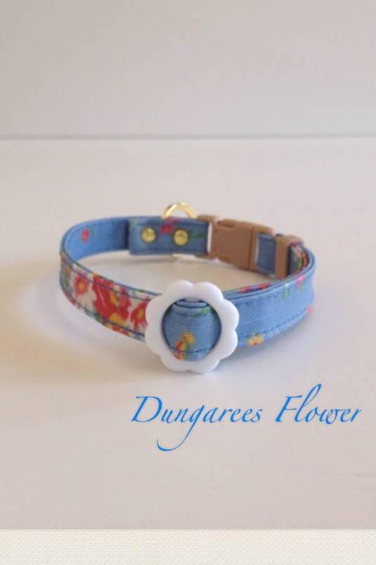 パピー用首輪 Dungarees Flower