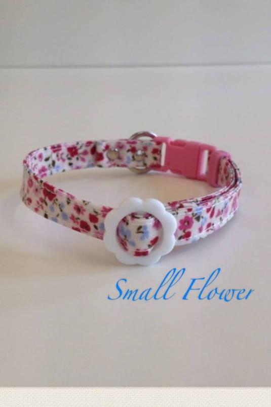 パピー用首輪 Small Flower ピンク