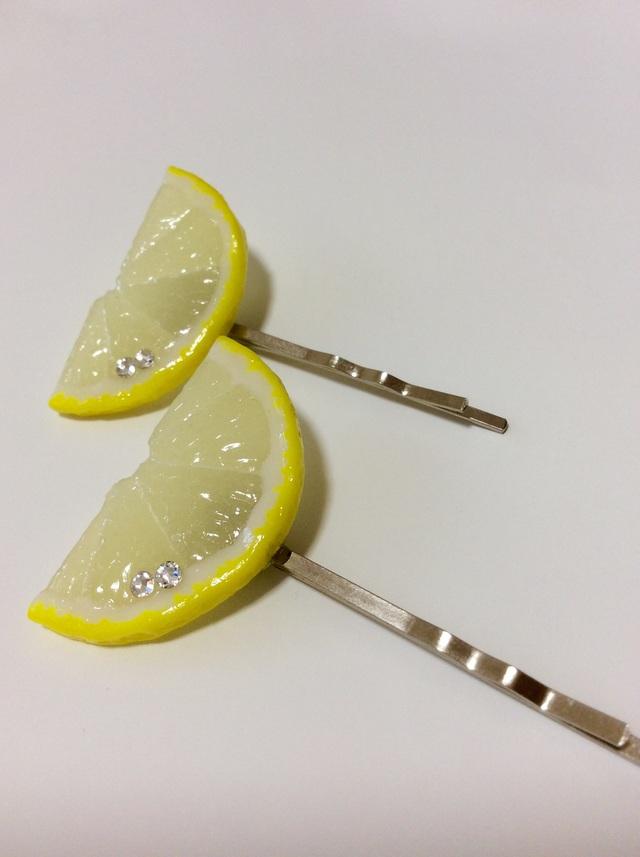 レモンのヘアピン