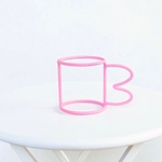 wire cup pink