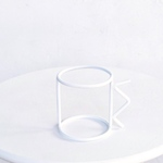 wire cup white