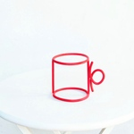 wire cup red