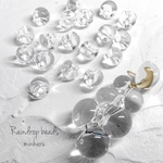 再販 small(18pcs)clear raindrop beads