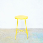 iron color stool  yellow
