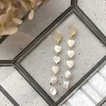 Mother of pearl ♡ pierce/earring《white》