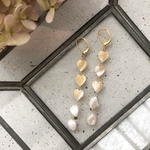 Mother of pearl ♡ pierce/earring《beige》