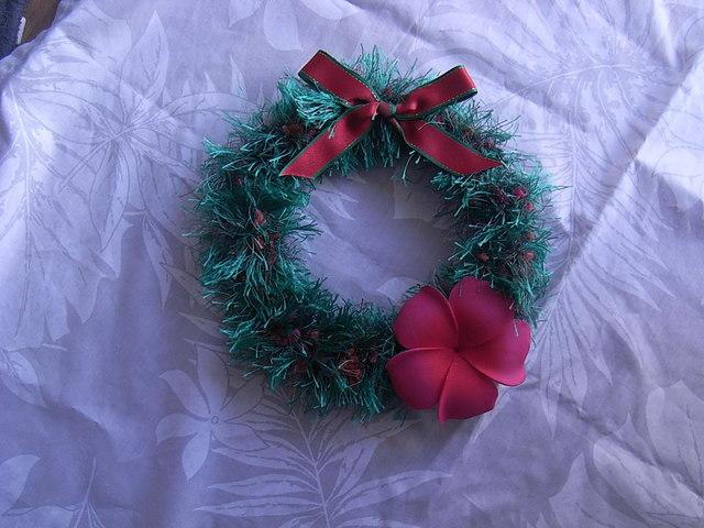 クリスマスリース・プルメリア