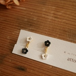お花畑petit① pierce/earring -BW-