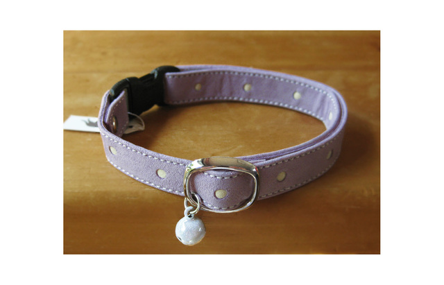 cat collar * lilac dot