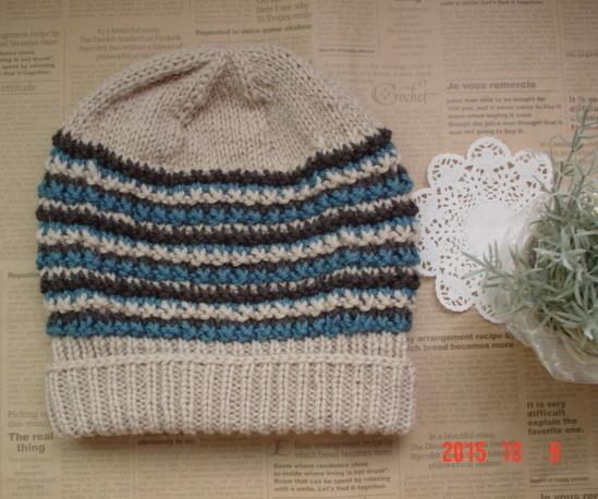 フリーサイズ:男女兼用 ☆彡ジグザク横模様の帽子