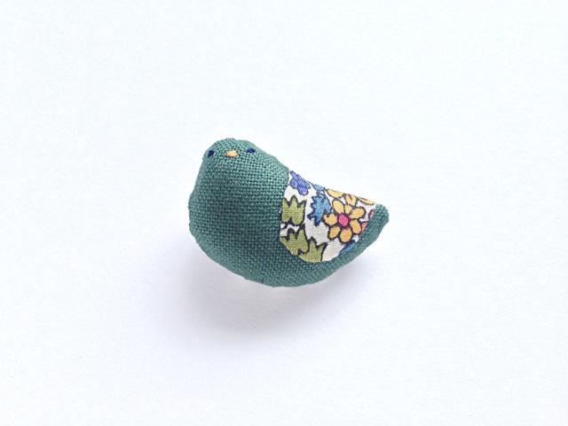 小鳥ブローチ(深緑3)