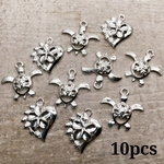 【chmm3914knz】【10個】Sea Turtle&Plumeria Charm