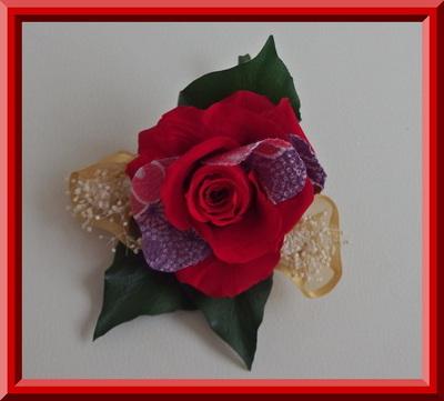 薔薇の和風髪飾り