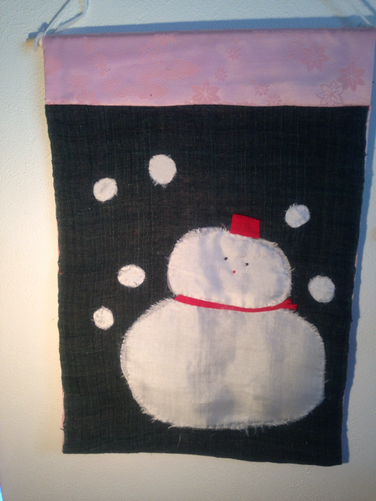 雪だるまタペストリー