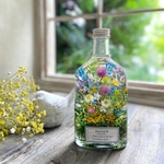ハーバリウム whiskey bottle 〜flower bed〜