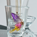 小さな蝶のネックレス〜sparkle〜(Necklace of little butterfly ~sparkle~)