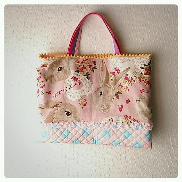 うさぎさんの入園 入学 レッスンバッグ