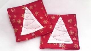 【再販】クリスマスのコースター(2枚セット)