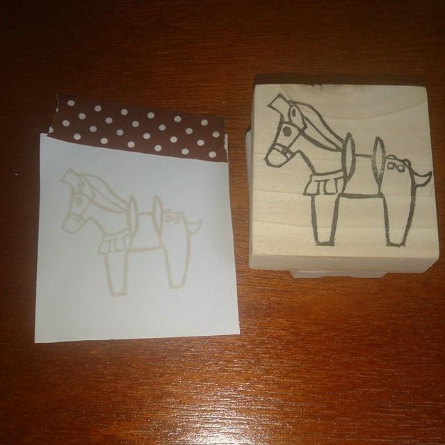 年賀状に☆埴輪の馬はんこ【送料込】
