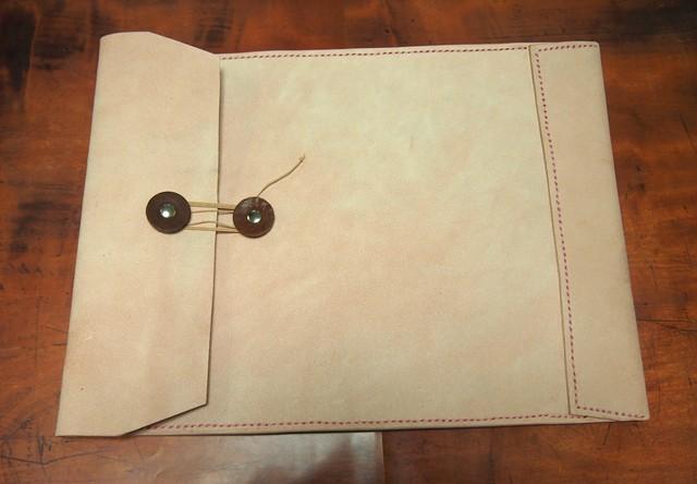 床革のマニラ封筒v2.1 A4ファイル対応 ご注文品
