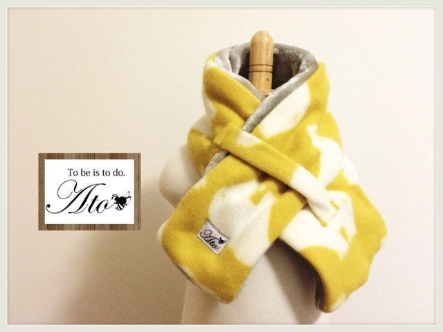 yukinko1120様専用!!!【再販】人気!yellow_しろくまさんのふわふわボアネックウォーマー★リバーシブル