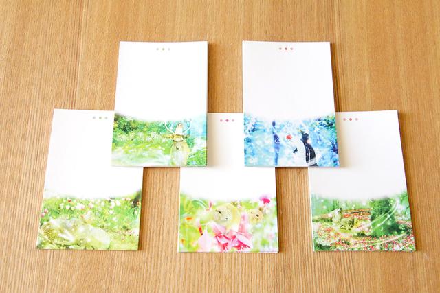 メモ用紙【人気作品柄】50枚(5種類?各10枚入り)