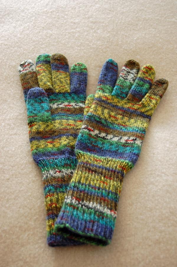 手編み5本指手袋 No.7