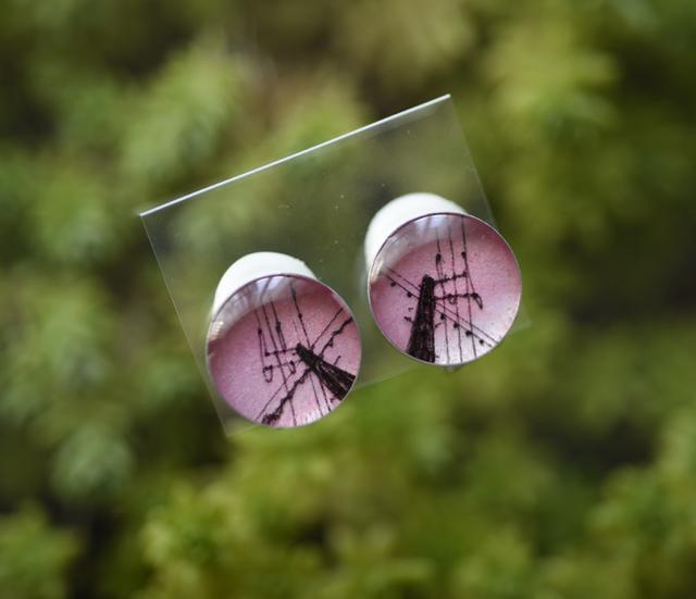 ちいさなイヤリング097/電柱