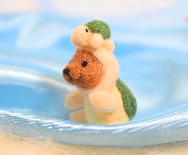 【wamana156様ご予約作品】小さな迷子のカメさんとコグマ