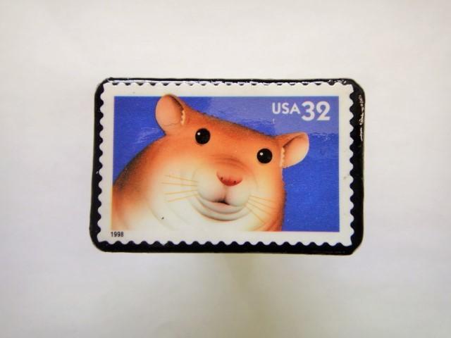 アメリカ 1998年切手ブローチ 129