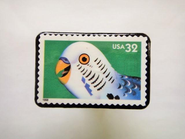 アメリカ 1998年切手ブローチ 132