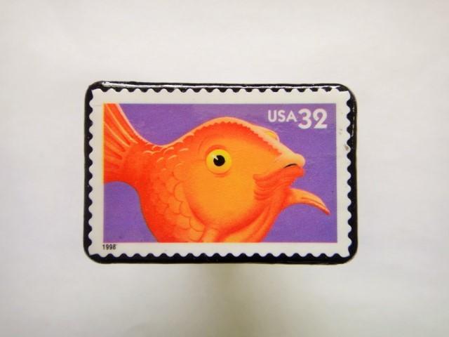 アメリカ 1998年切手ブローチ 133