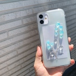 朝露の光 hologram:light blue  iPhoneケース iPhone11シリーズ対応 iPhoneXR iPhoneXs iPhone8 iPhoneSE iPhone11pro