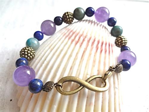 infinity bracelet    天然石ブレスレット