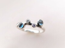 P'an topaz silver ring(ロンドンブルートパーズ)