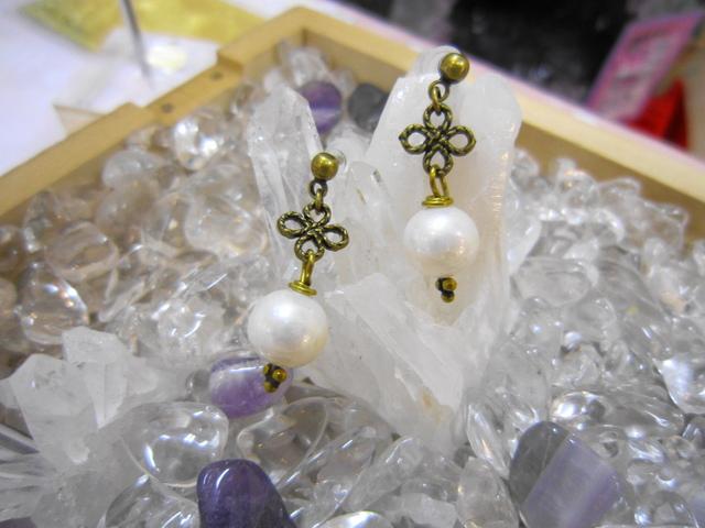 淡水真珠のピアス
