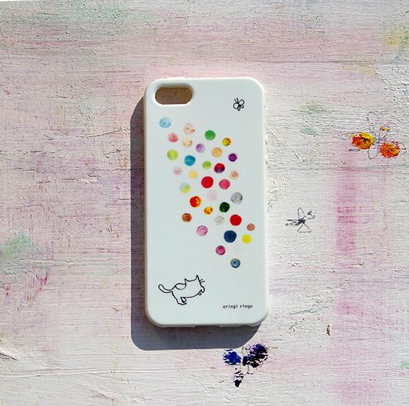 みずたまを追う猫 iPhone case(5/5S)