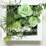 Green  rose  Wall  deco A