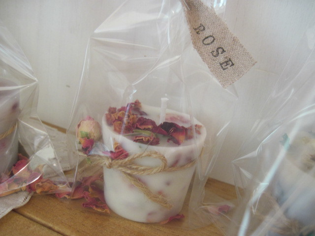 "soy aroma candle""ROSE"" Btype 再販"