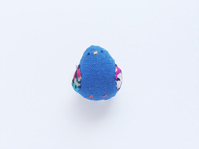 小鳥ブローチ(青)