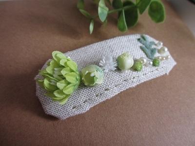 『大きめサイズのパッチン留めtype』green pin