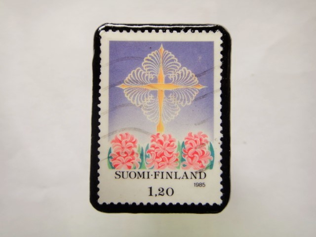 フィンランド クリスマス切手ブローチ162