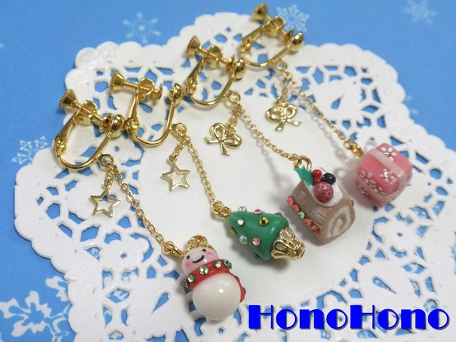 【fumika3様オーダー品】Merry Christmas☆イヤリング