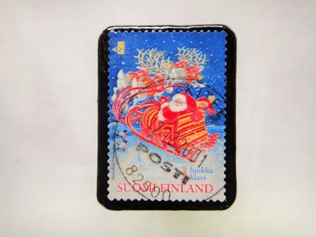 フィンランド クリスマス切手ブローチ182
