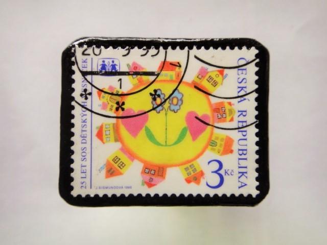 チェコスロバキア クリスマス切手ブローチ196